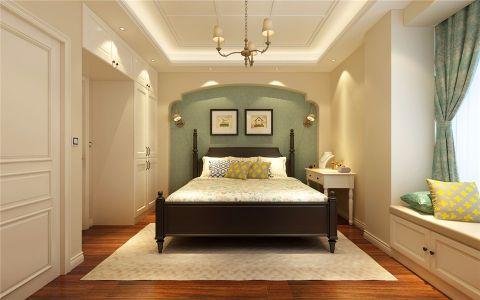 卧室窗帘美式风格装修设计图片