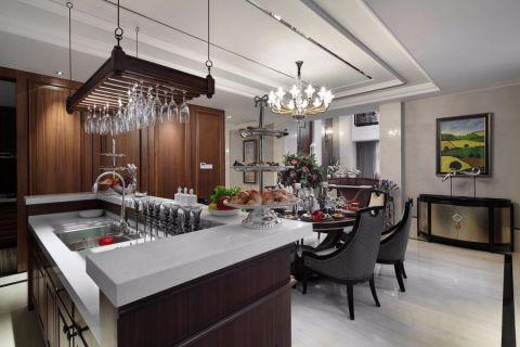 厨房厨房岛台美式风格装饰图片