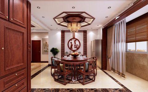 现代中式风格240平米别墅新房装修效果图