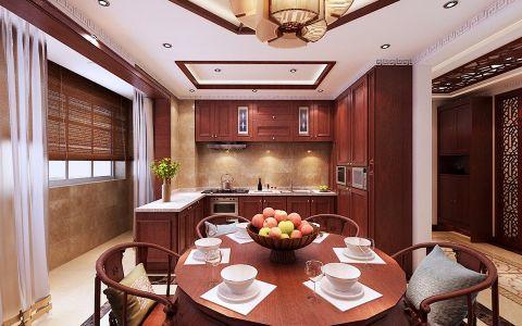 餐厅餐桌现代中式风格装潢设计图片