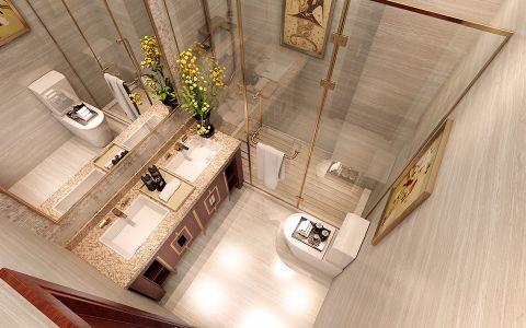 卫生间洗漱台现代中式风格效果图