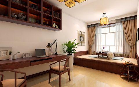 书房榻榻米现代中式风格装修效果图