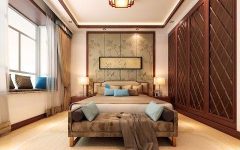 卧室窗帘现代中式风格装饰效果图