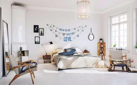 卧室窗台北欧风格装修设计图片