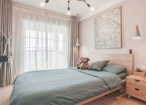 卧室背景墙北欧风格装饰设计图片