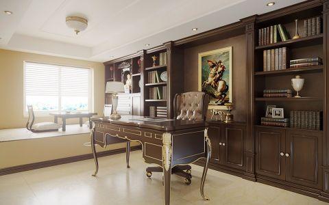 书房书桌简欧风格装修效果图