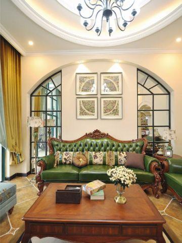 客厅茶几欧式风格装潢效果图