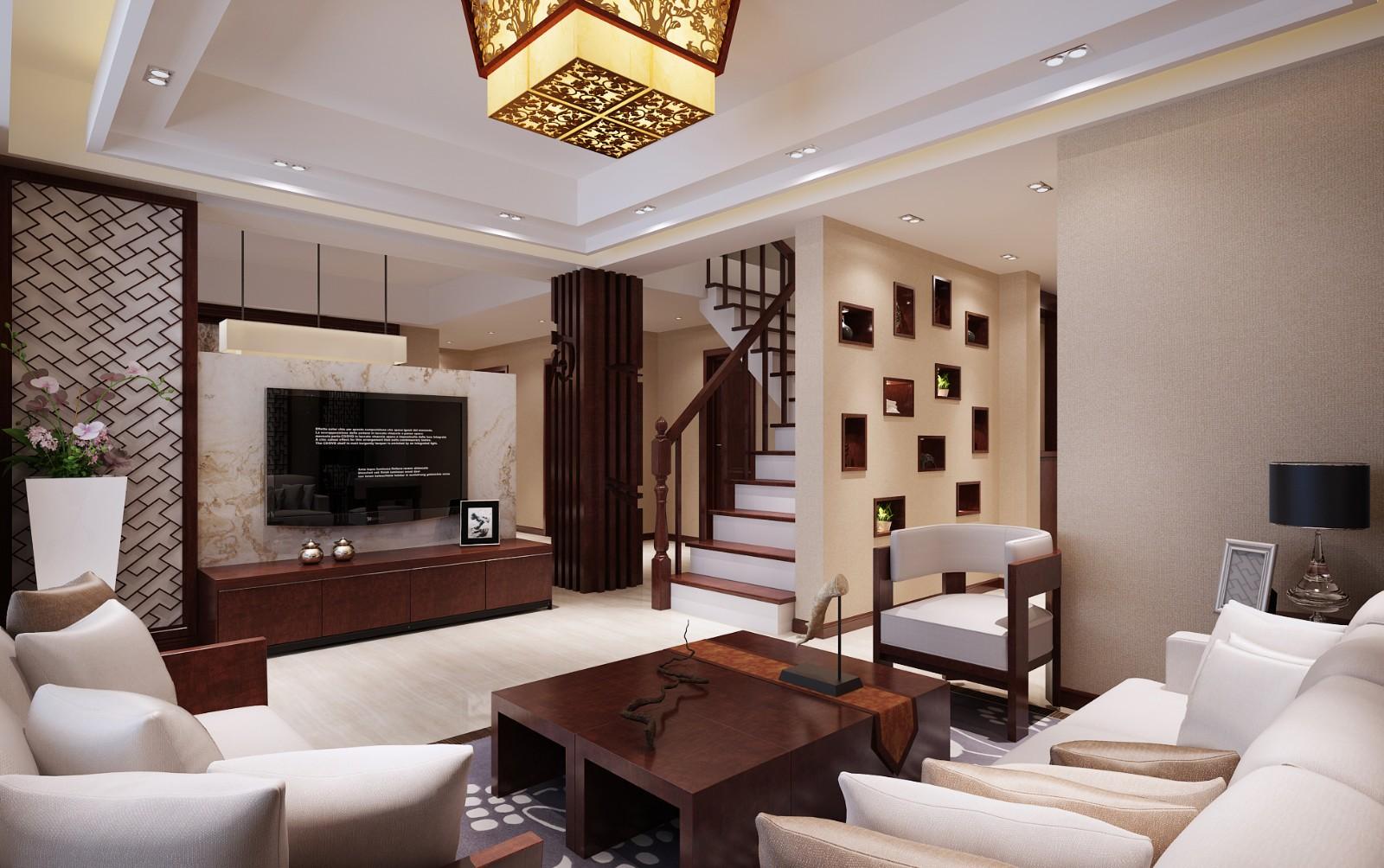 3室2卫1厅142平米新中式风格