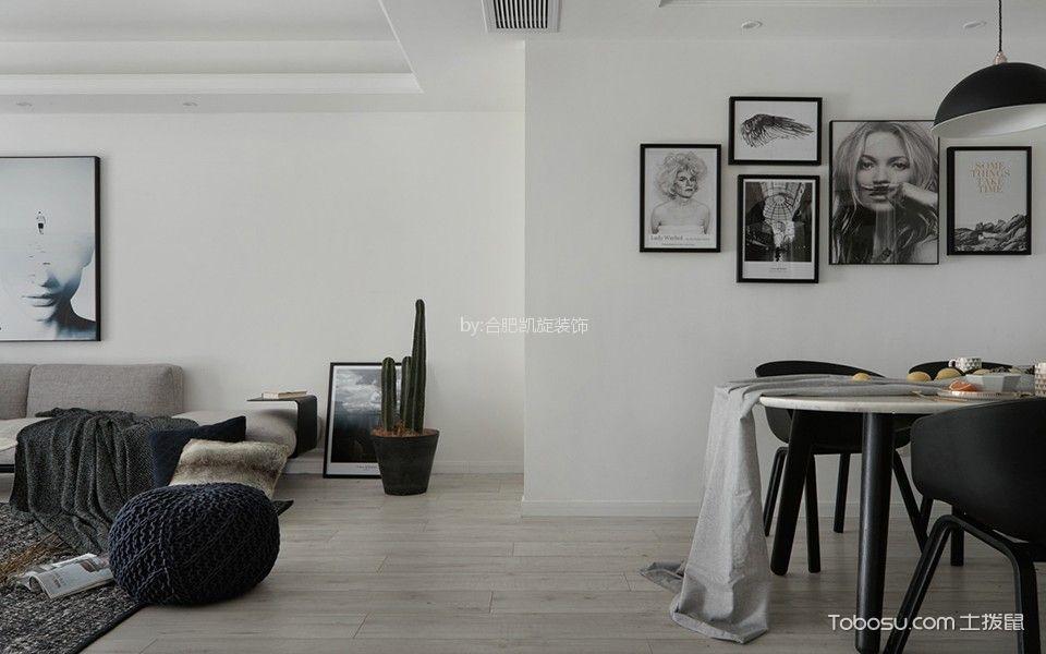 餐厅白色照片墙北欧风格装修图片