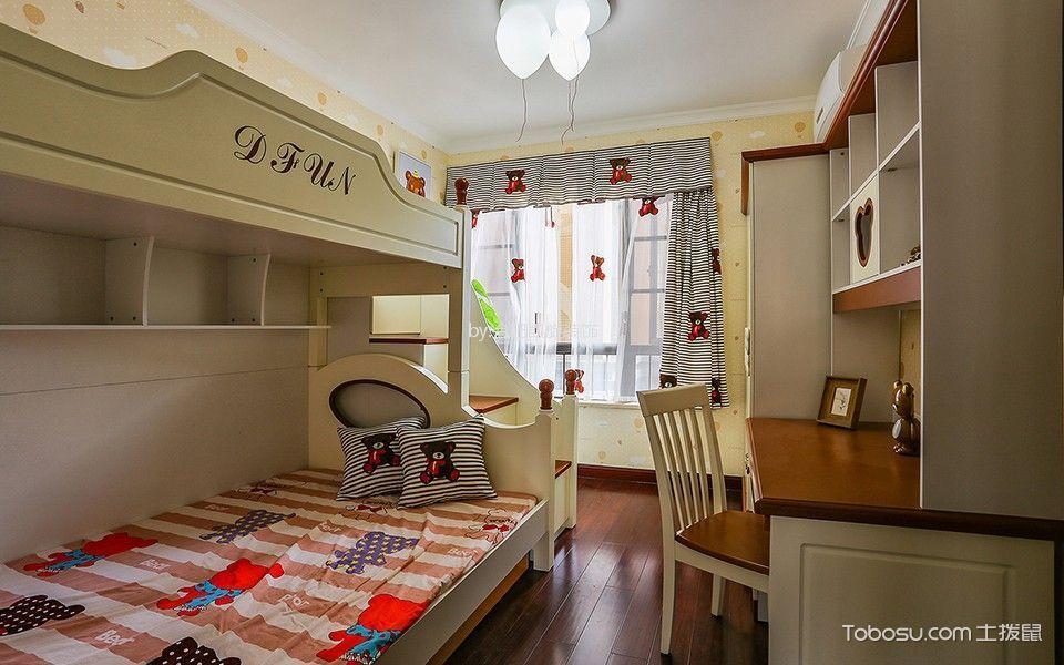 儿童房米色床新中式风格效果图