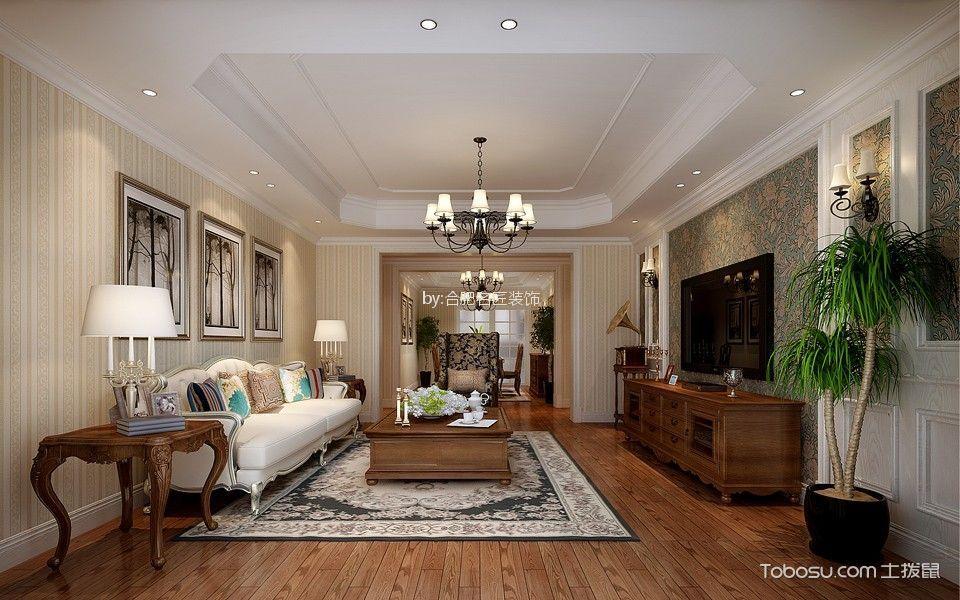 美式风格160平米四室两厅新房装修效果图