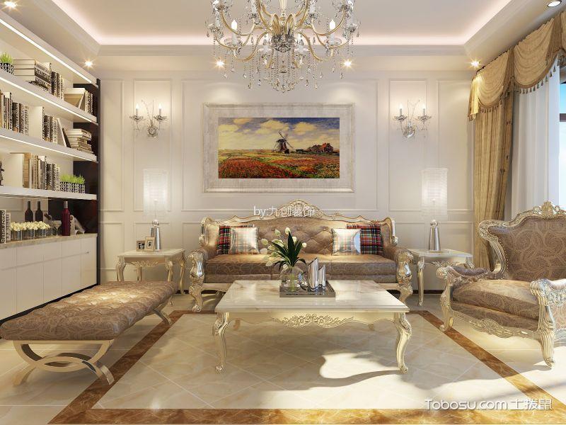紫林湾简欧风格三居室装修效果图