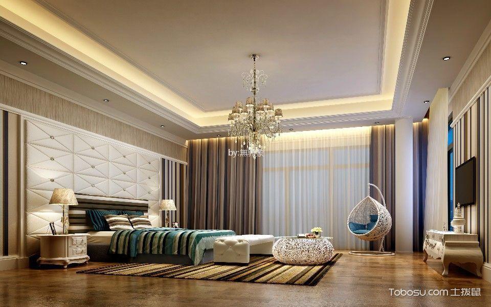 卧室米色电视柜欧式风格装饰效果图