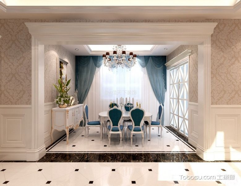 现代欧式风格130平米跃层室内装修效果图
