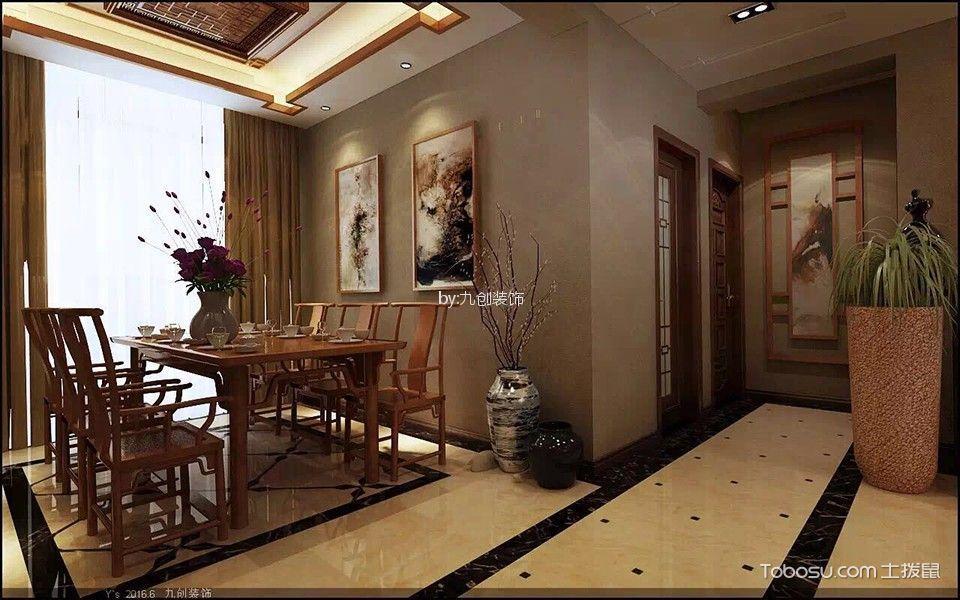 南昌伟梦清水湾140平米新中式风格效果图