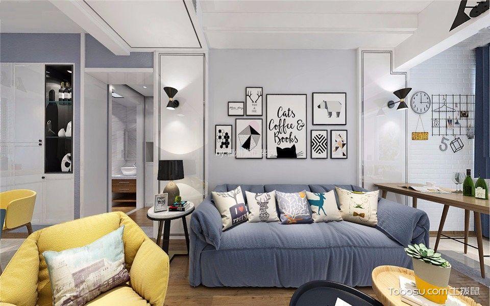 融侨悦城120平北欧风格三居室装修效果图