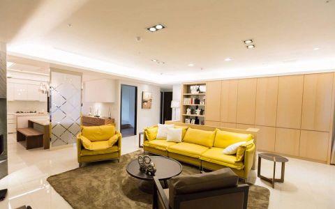 133平米现代简约风格三居室装修效果图