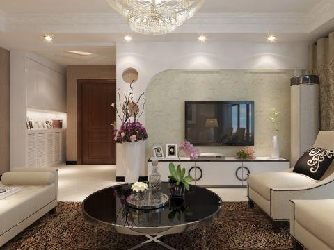 玄关白色走廊现代简约风格装潢效果图