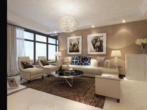 客厅咖啡色吊顶现代简约风格装修图片