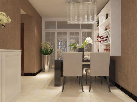 餐厅咖啡色推拉门现代简约风格装饰图片