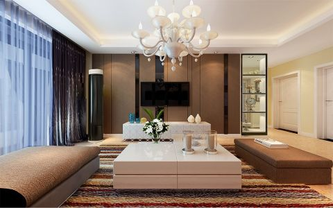 客厅窗帘现代风格装饰图片