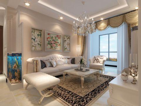 客厅照片墙简欧风格装潢设计图片