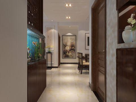 天洲国际中心中式风格三居室装修效果图