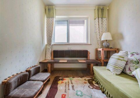 卧室彩色窗帘现代风格装潢图片