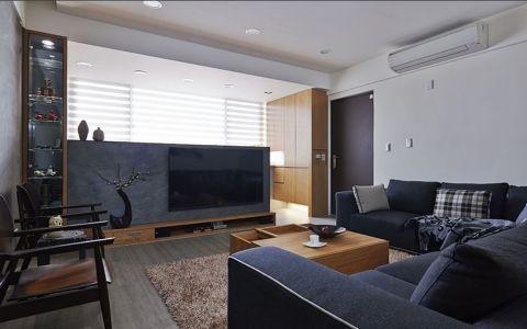客厅咖啡色茶几现代风格装修图片