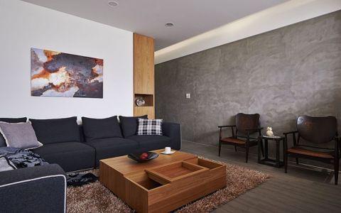 客厅灰色沙发现代风格装潢图片