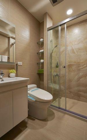 卫生间白色洗漱台现代风格效果图