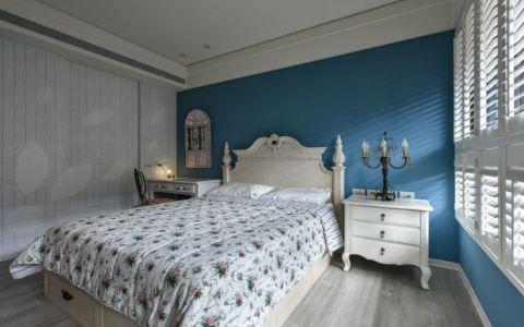 卧室白色床头柜田园风格装饰设计图片