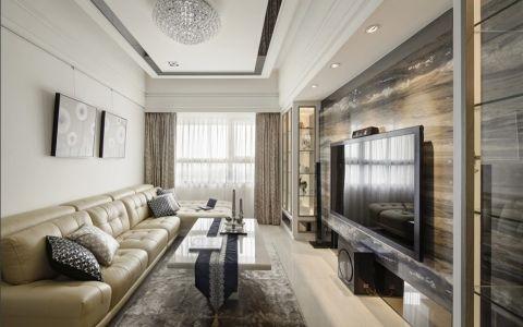 客厅黄色沙发新古典风格装饰图片