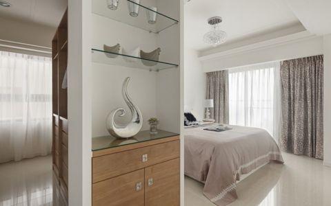 卧室灰色窗帘新古典风格装饰设计图片