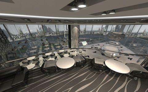 嘉宏地王大厦销售中心商场装修效果图