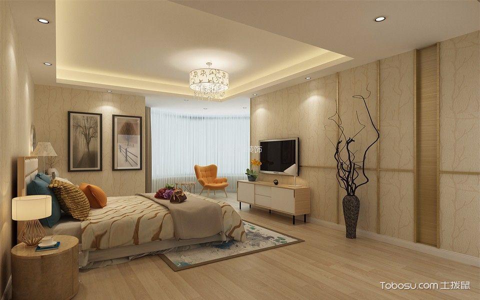 卧室白色电视柜新中式风格装修设计图片