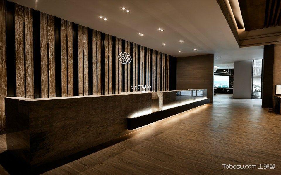静线构合会所前台走廊装饰图