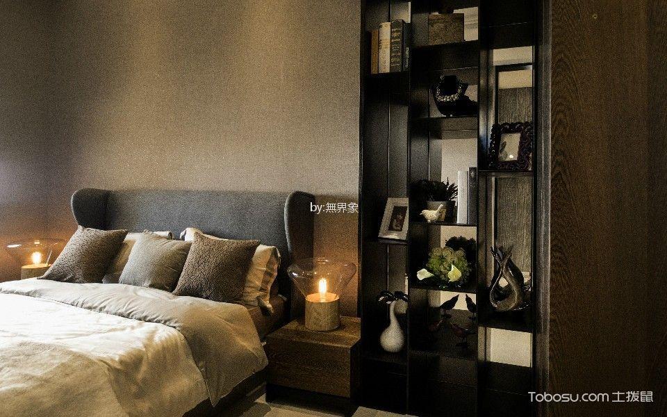 卧室黑色博古架古典风格装饰设计图片