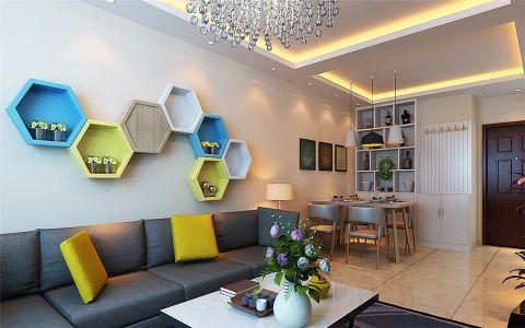 现代简约风格103平米楼房室内装修效果图