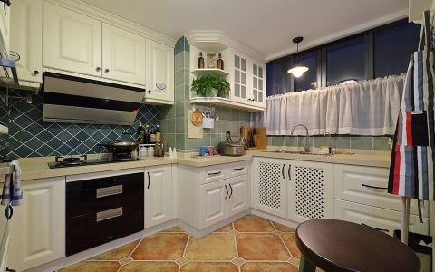 厨房窗帘美式风格装饰图片