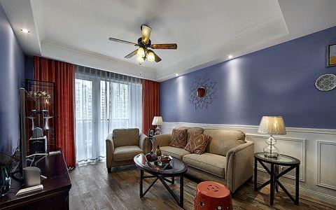混搭风格110平米楼房室内装修效果图