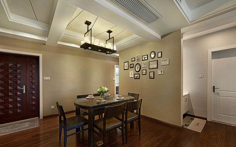 餐厅照片墙现代风格装潢图片