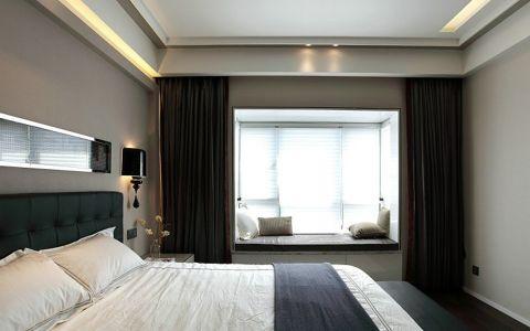 卧室窗帘现代风格装潢图片