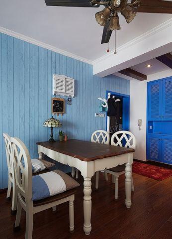 餐厅背景墙地中海风格装修设计图片