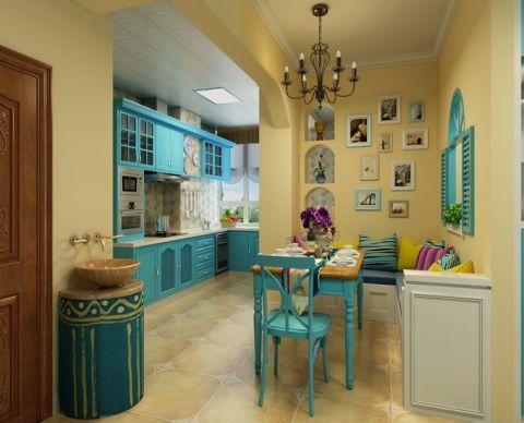 餐厅照片墙地中海风格装饰效果图