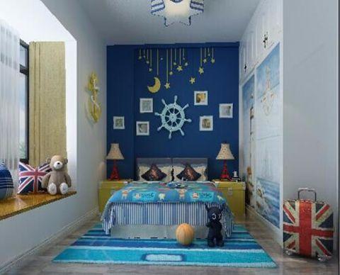 卧室背景墙地中海风格装修图片