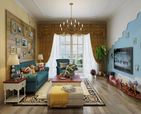 梦之岛花园110平地中海风格三居室装修效果图