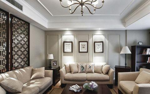 美式风格240平米大户型新房装修效果图