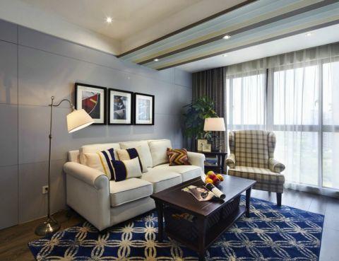 康城国际110平现代风格三居室装修效果图