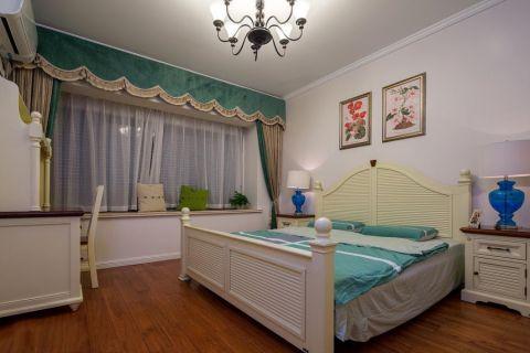 卧室白色飘窗美式风格装修图片
